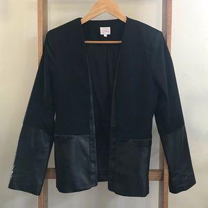 Parker Wool / Lambskin Leather Blazer